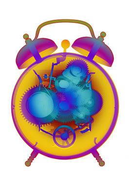 Photograph - X-ray Alarm Clock No. 4 by Roy Livingston