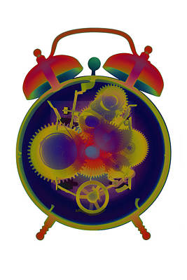 Photograph - X-ray Alarm Clock No. 6 by Roy Livingston