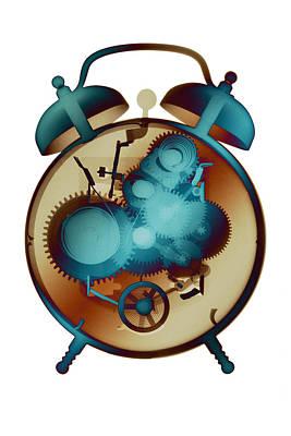 Photograph - X-ray Alarm Clock No. 9 by Roy Livingston