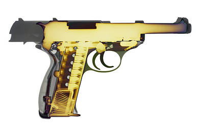 Photograph - X-ray Art Of Walther P38 No. 4 by Ray Gunz
