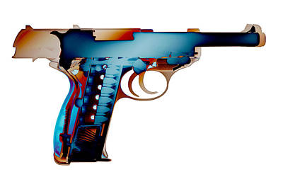 Photograph - X-ray Art Of Walther P38 No.2 by Ray Gunz