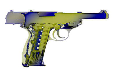 Photograph - X-ray Art Of Walther P38 No.5 by Ray Gunz