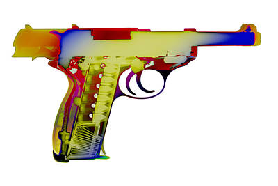 Photograph - X-ray Art Of Walther P38 by Ray Gunz