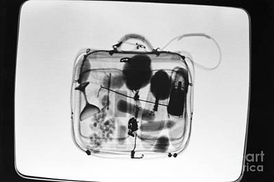 Airline Industry Photograph - X-ray Of Suitcase by Science Source