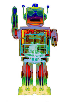 Photograph - 4n0d3 X-ray Robot Art Photpgraph by Roy Livingston