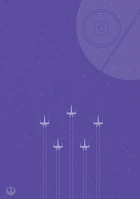 Royalty-Free and Rights-Managed Images - X-Wing Attack by Samuel Whitton