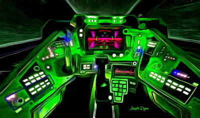 Cockpit Digital Art - X-wing Cockpit - Da by Leonardo Digenio