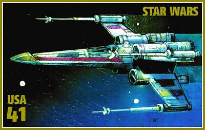 X-wing Starfighter Art Print by Lanjee Chee