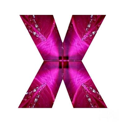 Painting - X Xx Xxx  Alpha Art On Shirts Alphabets Initials   Shirts Jersey T-shirts V-neck By Navinjoshi by Navin Joshi