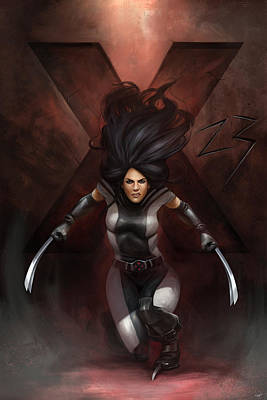 Digital Art - X23 Commission by Steve Goad