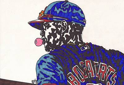 Drawing - Xander Bogaerts 1  by Jeremiah Colley