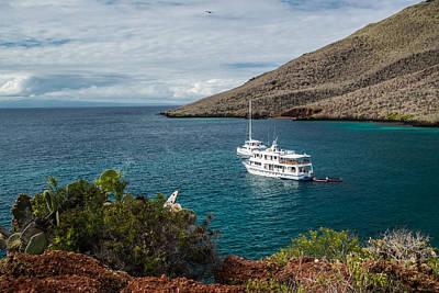 Photograph - Xavier IIi Anchored In Rabida Bay by Harry Strharsky