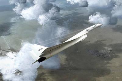 Valkyrie Digital Art - Xb-70 Test Flight by Peter Chilelli