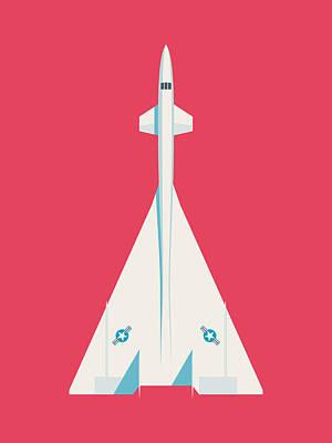 Valkyrie Digital Art - Xb-70 Valkyrie Supersonic Jet Aircraft - Crimson by Ivan Krpan