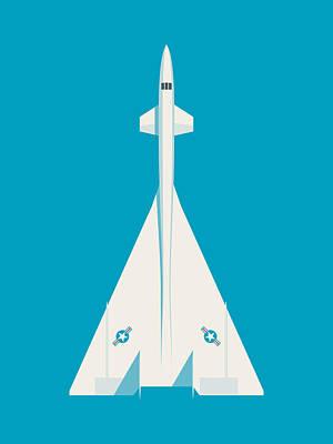 Valkyrie Digital Art - Xb-70 Valkyrie Supersonic Jet Aircraft - Cyan by Ivan Krpan