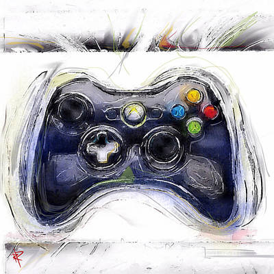 Computer Art Mixed Media - Xbox Thrills by Russell Pierce