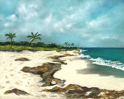 Painting - Xcaret - Mexico - Beach by Anastasiya Malakhova