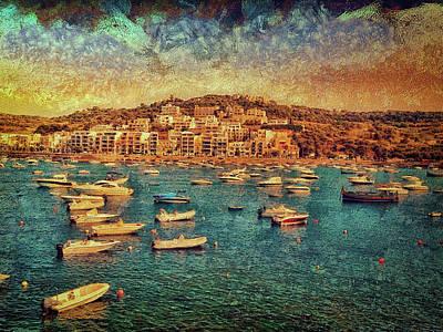 Digital Art - Xemxija, Malta by Leigh Kemp