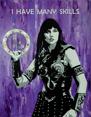 Painting - Xena Warrior Princess by Deb Breton