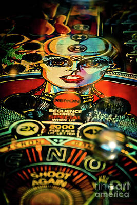 Photograph - Xenon - Pinball Art by Colleen Kammerer
