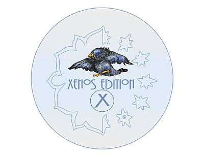 Digital Art - Xenos Edition Logo by Dawn Sperry