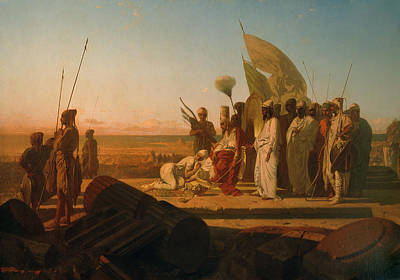 Xerxes At The Hellespont Print by Jean Adrien Guignet