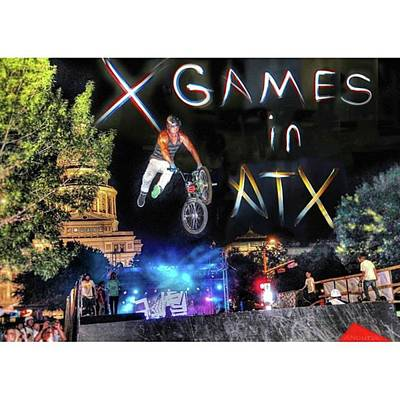 Cycling Wall Art - Photograph - #xgames In #atx Again Soon! It Will by Andrew Nourse