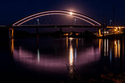Photograph - Hasting Bridge At Night by Patti Deters