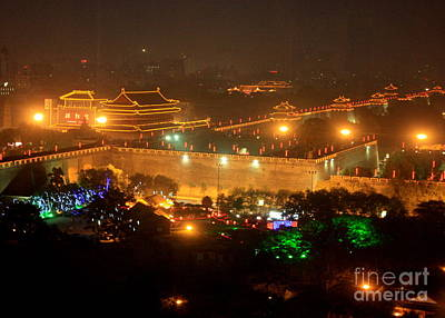 Curated Travel Chargers - Xian City Lights by Carol Groenen