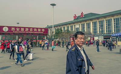 Photograph - Xian Railway Station Xian Shaanxi China by Adam Rainoff