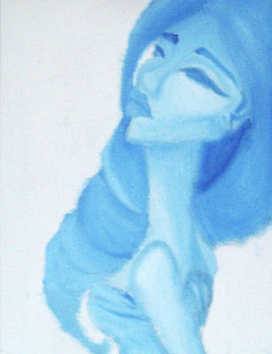 Xiao In Blue Art Print by Abigail White
