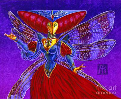 Magic The Gathering Mixed Media - Xira Arien by Melissa A Benson
