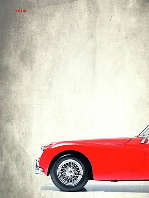 Jaguar Photograph - Xk140 by Mark Rogan