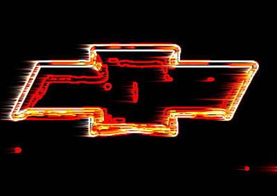 Xl Chevy Bowtie Neon Wind Original