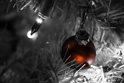 Photograph - Xmas Bulb And Lights by Desmond Raymond