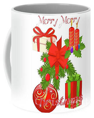 Digital Art - Xmas Coffee Cup by Gayle Price Thomas