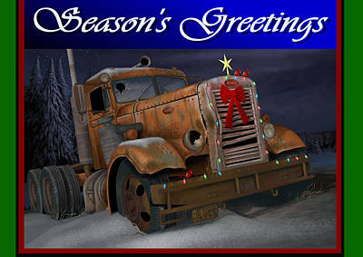 Digital Art - Xmas Pete Card by Stuart Swartz