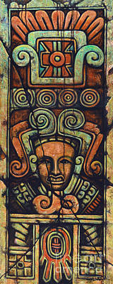 Xochicalco Tablet Original by Salvador Rodriguez