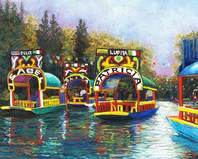 Xochimilco Print by Candy Mayer
