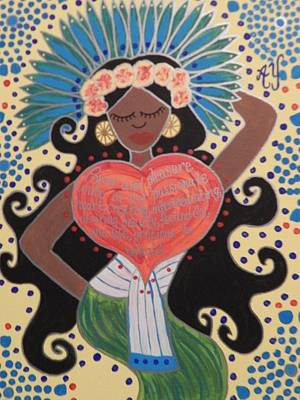 Painting - Xochiquetzal by Angela Yarber
