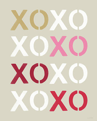 Xoxo- Art By Linda Woods Art Print by Linda Woods