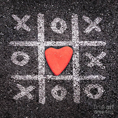 Heart Stone Photograph - Xoxo by Delphimages Photo Creations