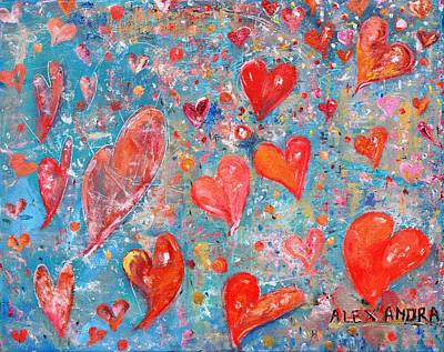 Painting - Xoxo by Evelina Popilian
