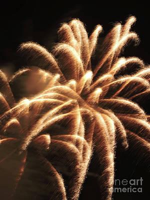 Burning Night Time Sky Photograph - Xplosion by GabeZ Art
