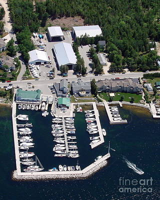 Photograph - Y-001 Yacht Works Marina Sister Bay Wisconsin by Bill Lang