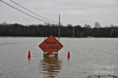 Indiana Flooding Photograph - Ya Dont Say  by Scott D Van Osdol