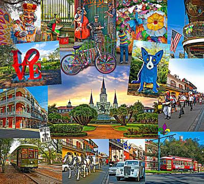 Dog Artist Digital Art - Ya Gotta Love New Orleans 2 by Steve Harrington