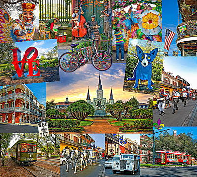Fleurs De Lis Bicycle Photograph - Ya Gotta Love New Orleans by Steve Harrington