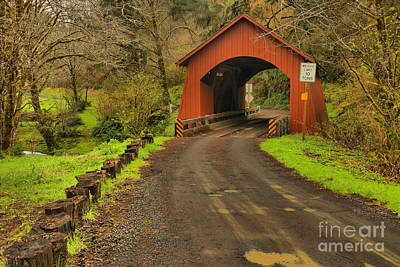 Photograph - Yachats Covered Bridge by Adam Jewell