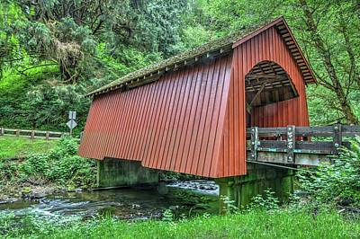 Photograph - Yachats Covered Bridge by Harold Rau